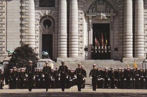 Maryland Annapolis U S Naval Academy Brigade Of Midshipmen Noon Formation
