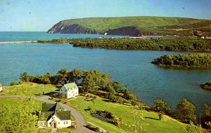 Nova Scotia, Canada - Cape Smokey & entrance to Cape Breton Natl Park - 1970s