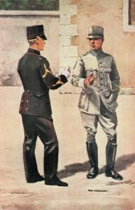Military postcard Infanterie Onderofficieren 02.14