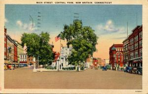 CT - New Britain. Main St., Central Park