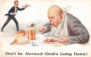 CI Howard~Grub's Going Down!~Waiter Brings More~German Beer Stein~Artist Signed
