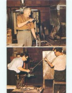 Pre-1980 HANDMADE GLASS CALLED ALTAGLASS BEING MADE Medicine Hat AB E7852
