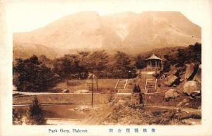 Hakone Japan panoramic birds eye view Park Gora antique pc Z24007