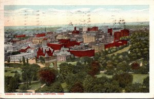 Connecticut Hartford General View From Capitol 1917