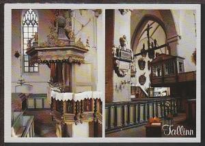 St Mary's Cathedral Tallinn Estonia Postcard BIN