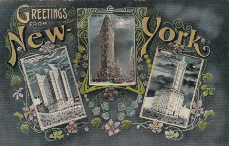 New York City , 1900-10s ; 3 buildings