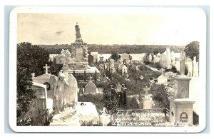 Postcard El Iementerio (Grave Yard) Matamoros, Tamaulipas, Mexico 1959 RPPC Y62