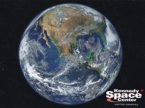 Earth From Suomi NPP Satellite Kennedy Visitors Centre NASA Postcard
