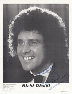 Ricki Disoni Large 12x8 Hand Signed Management Publicity Photo