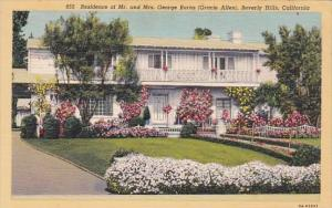 California Beverly Hills Residence Of Mr And Mrs George Burns