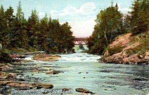 Dennysville, Maine - The bridge at Upper Falls - c1908