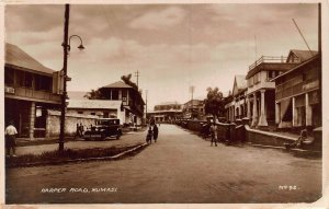 Ghana Gold Coast Kumasi Harper Road car auto real photo Postcard