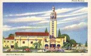 Florida Bldg. New York Worlds Fair 1939 Exhibition Unused