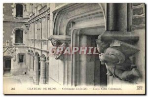 Old Postcard From Blois Chateau Colonnade Louis XII