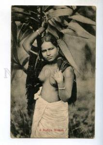 247093 CEYLON Rodiya semi-nude Girl Vintage postcard