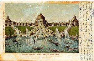 MO - St. Louis, 1904 World's Fair. Cascade Gardens (stains, wear)