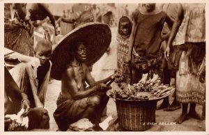 Ghana Gold Coast A fish seller Postcard