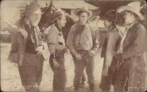 Cowboy Actor Mutoscope Exhibit Card - On The Trail of Cattle Thieves