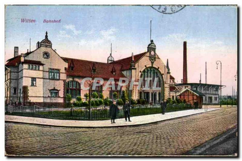Old Postcard Witten Bahnhof
