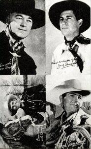 Gene Autry, Rod Cameron, Jack Randall, William Boyd