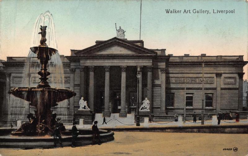 Vintage early 1900's Postcard LIVERPOOL Walker Art Gallery