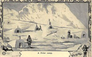 Exploration Post Card Polar Camp Greenland Unused