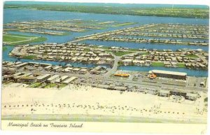 Air view of Treasure Island between Boca Ciega Bay and Gulf of Mexico, Florida k