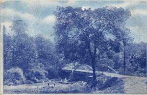 Ohio Postcard 1907 BEACH CITY Bridge Crossing Sugar Creek