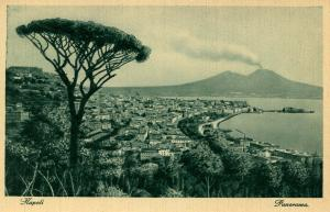 Italy -  Naples and Mt Vesuvio