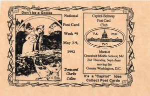 11776 National Post Card Week 1992, Capitol Beltway Postcard Club