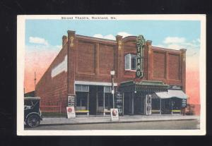 ROCKLAND MAINE STRAND THEATRE ANTIQUE VINTAGE POSTCARD