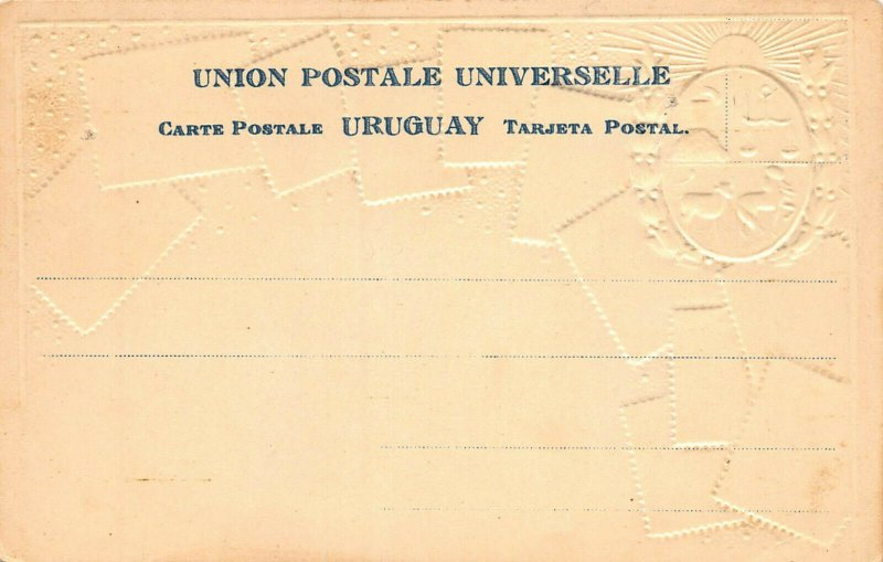 Uruguay Stamps on Early Embossed Postcard, Unused, Published by Ottmar Zieher