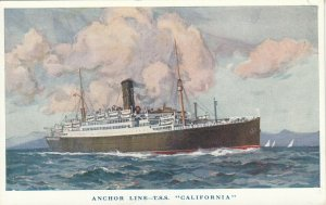 Ocean Liner , T.S.S. CALIFORNIA , Anchor Line , 1930s
