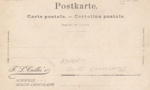 FL Caillers Swiss Schweiz Milk Milch Chocolade Chocolate 2x Advertising Postcard