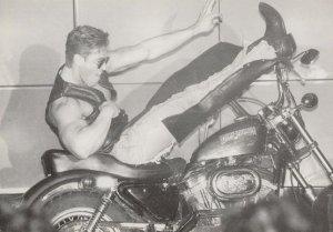 Male Model on Harley Davidson Motorcycle Gay Interest LGBT Postcard