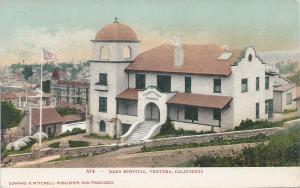 Bard Hospital, Ventura, California, Early Postcard, Used
