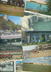 cpc196 postcard collection FIFTY Michigan