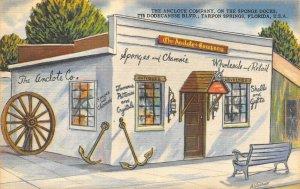Tarpon Springs Florida~ Anclote Gift Shop~Sea Shells~Sponges & Camois 1960s PC