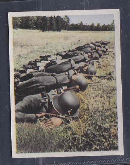 GERMANY TOBACCO CARD WWI 6x5 cms. MILITAR TRAINING AAD5156