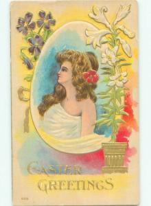 Divided-Back PRETTY WOMAN Risque Interest Postcard AA8705