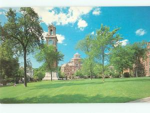 Vintage Post Card Brown University Carrie Tower Robinson Hall  R I  # 4108