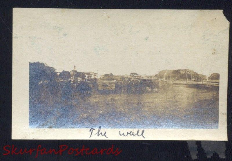 MANILA PHILIPPINES PHILIPPINE ISLANDS THE WALL WWI ERA REAL PHOTO PHOTOGRAPH