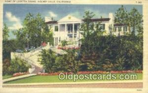 Loretta Young, Holmby Hills, CA, USA Movie Star, Actor / Actress, Post Card P...