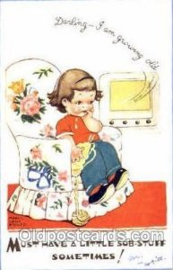 Mabel Lucie Attwell Series 5319 1955 very minimal writing on front of card, p...