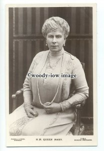 r1867 - Queen Mary seated wearing pearls - postcard