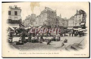 Old Postcard Cliff Place Saint Gervais a Walk TOP Day