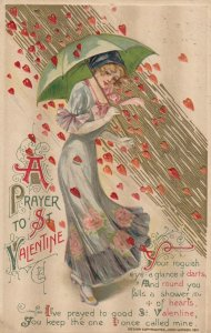 John Winsch 1912, VALENTINE ; Samuel Schmucker : Woman in rain of hearts