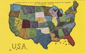 Florida St Augustine Buttom Map Of U S A Lightner Museum Of Hobbies