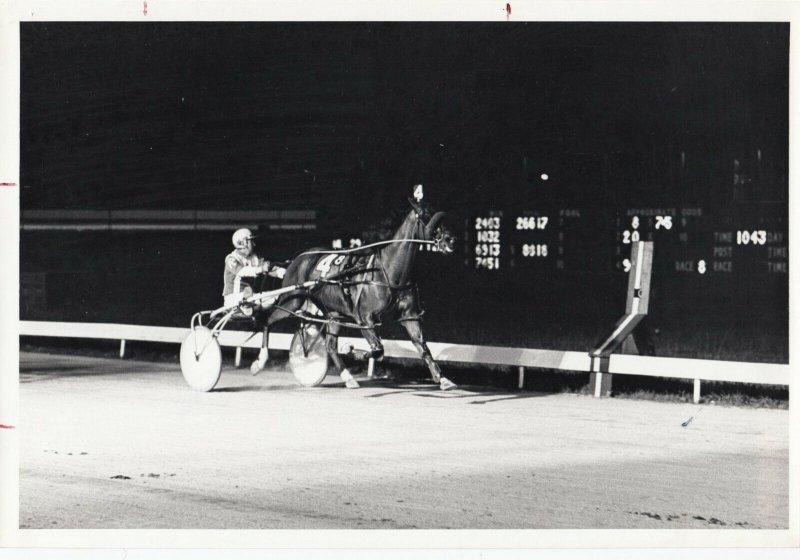 LAUREL RACEWAY Harness Horse Race; ARMBRO LADDIE winner, 1973
