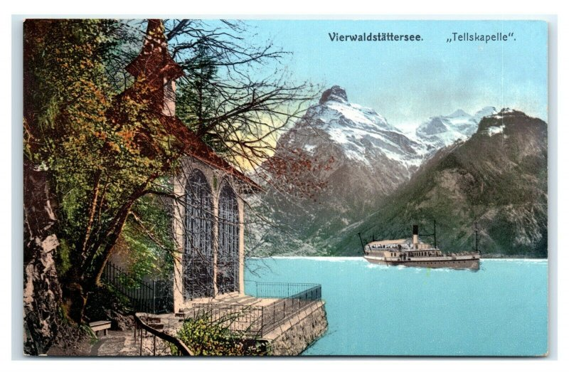 Postcard Vierwaldstattersee Tellskapelle Switzerland G63